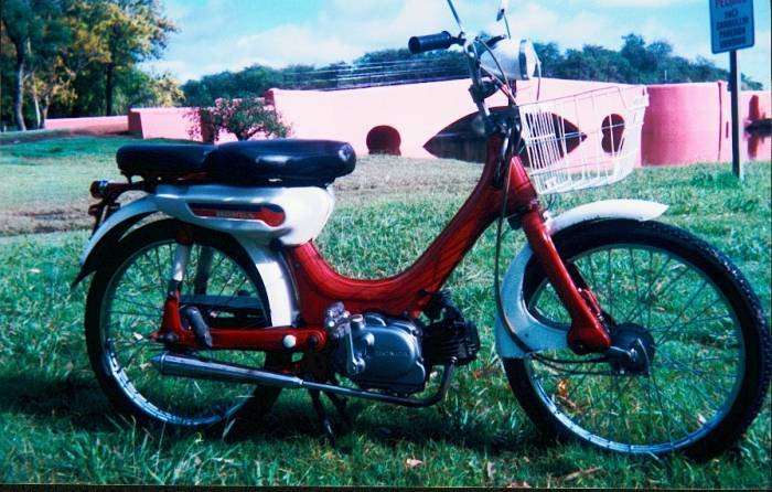 1980 Honda PC50 (Red w/ Basket)