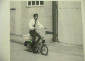 (Sammy Davis Jr. on a Moped)