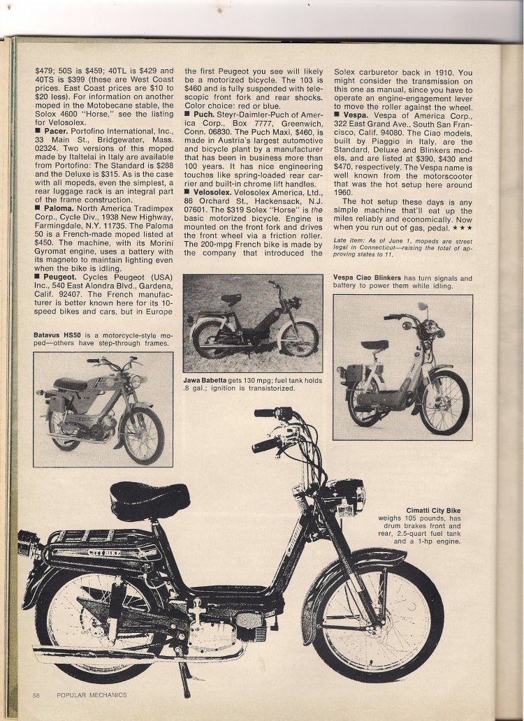 (opular Mechanics moped review page 3)