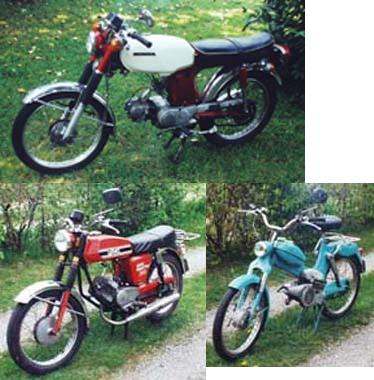 Puch M50 Grand Prix (with other mopeds)