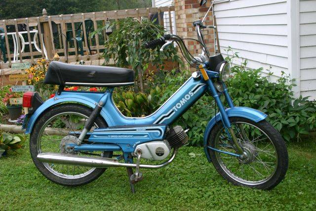 1980 Tomos Blue Bullet | Photo — Moped Army