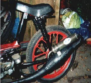 1979 hercules prima 5 black and red rear shot moped. Black Bedroom Furniture Sets. Home Design Ideas