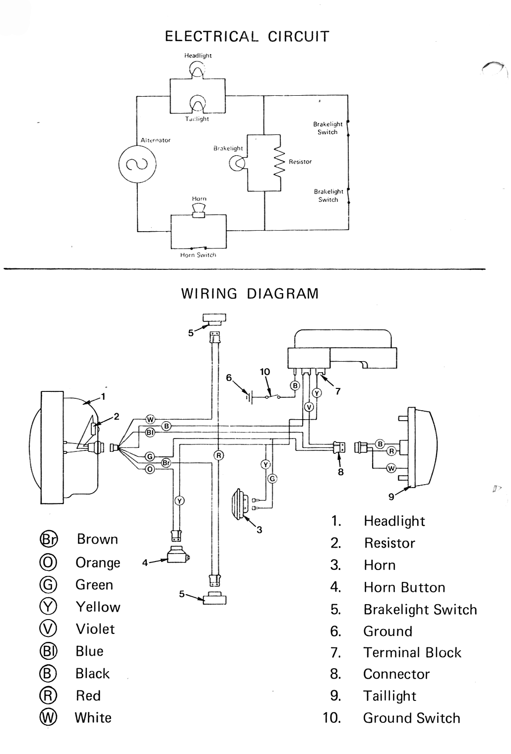 list of wiring diagrams moped wiki rh mopedarmy com 150Cc Scooter Wiring Diagram Universal Ignition Switch Wiring Diagram