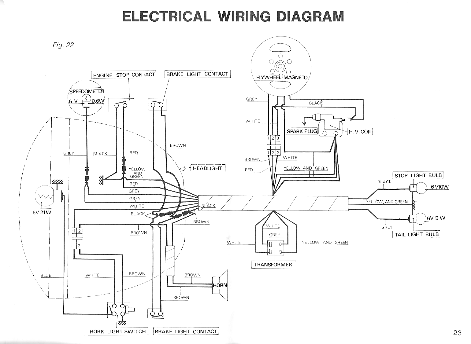 Peugeot Wiring Diagrams Moped Wiki 6v Generator Diagram 102 1