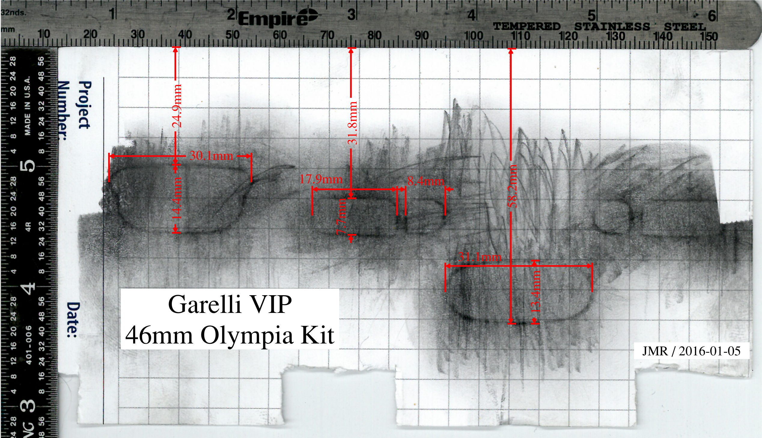 Garelli VIP 68cc Olympia Kit Map