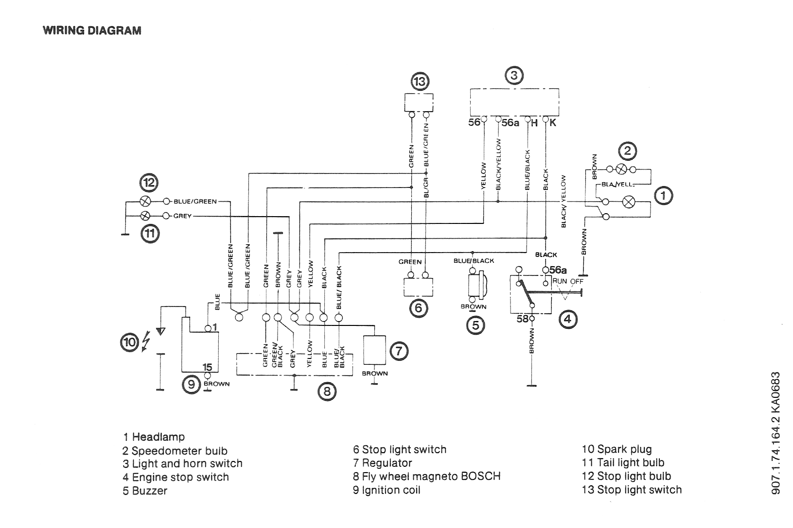 Puch Wiring Diagrams Moped Wiki Motor Scooter Mini Maxi Diagram