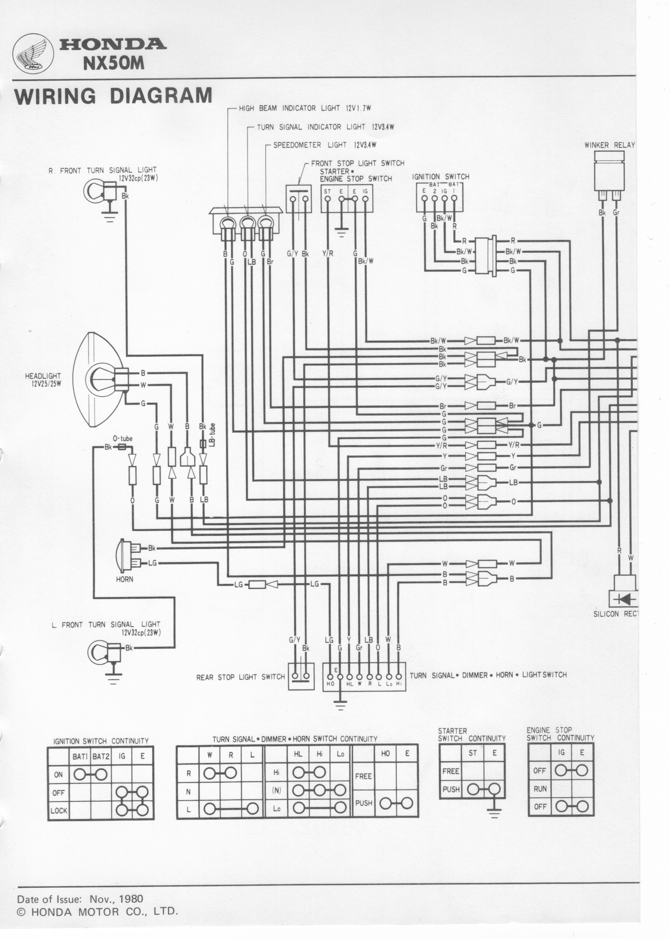 1983 Honda Ft500 Wiring Diagram Residential Electrical Symbols Ft 500 Nu50m 1982 Gl650i Elsalvadorla Cb650