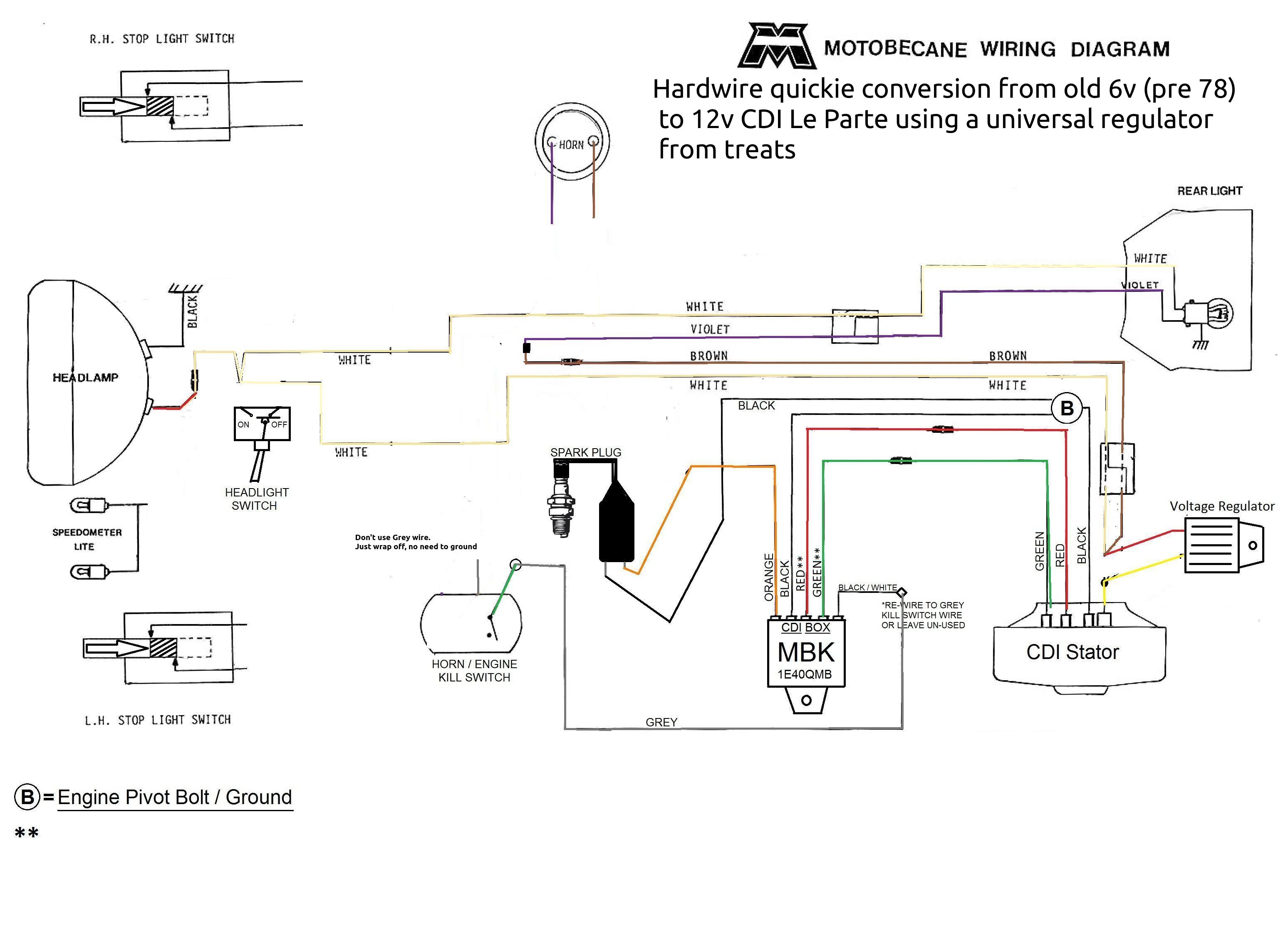 Motobecane wiring diagrams | Moped Wiki — Moped ArmyMoped Army
