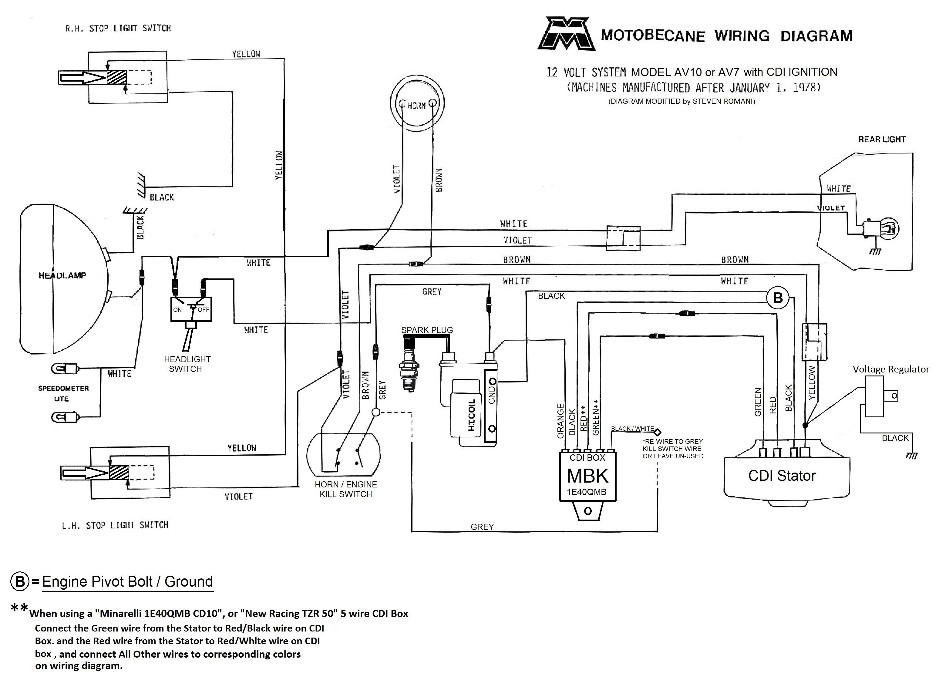 Motobecane Wiring Diagrams Moped Wiki 12v Diagram Cdi Av10 And Av7