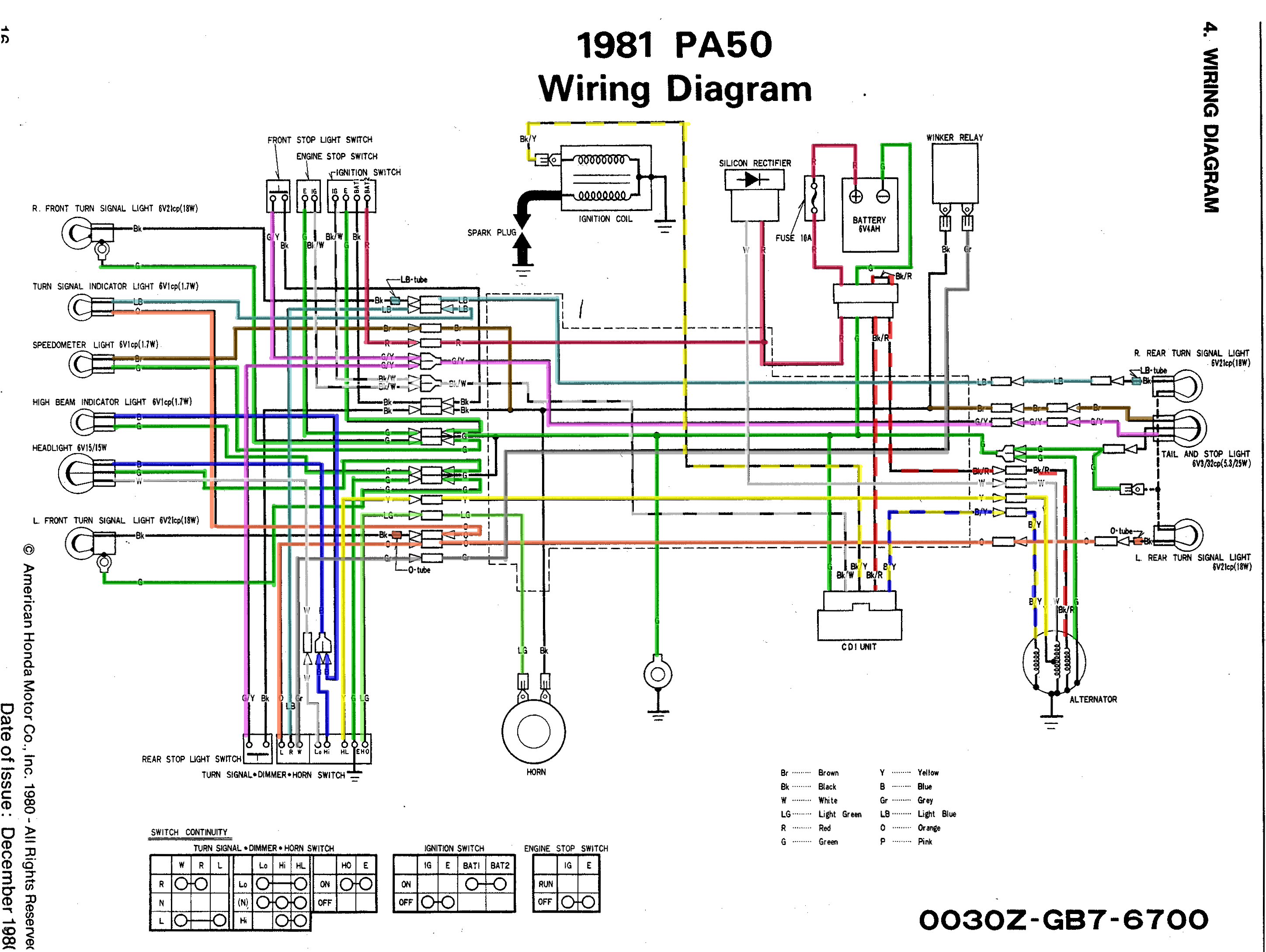 Stock Hobbit Cdi W Jog Box Wiring Diagram Moped Army Power Scooter Re