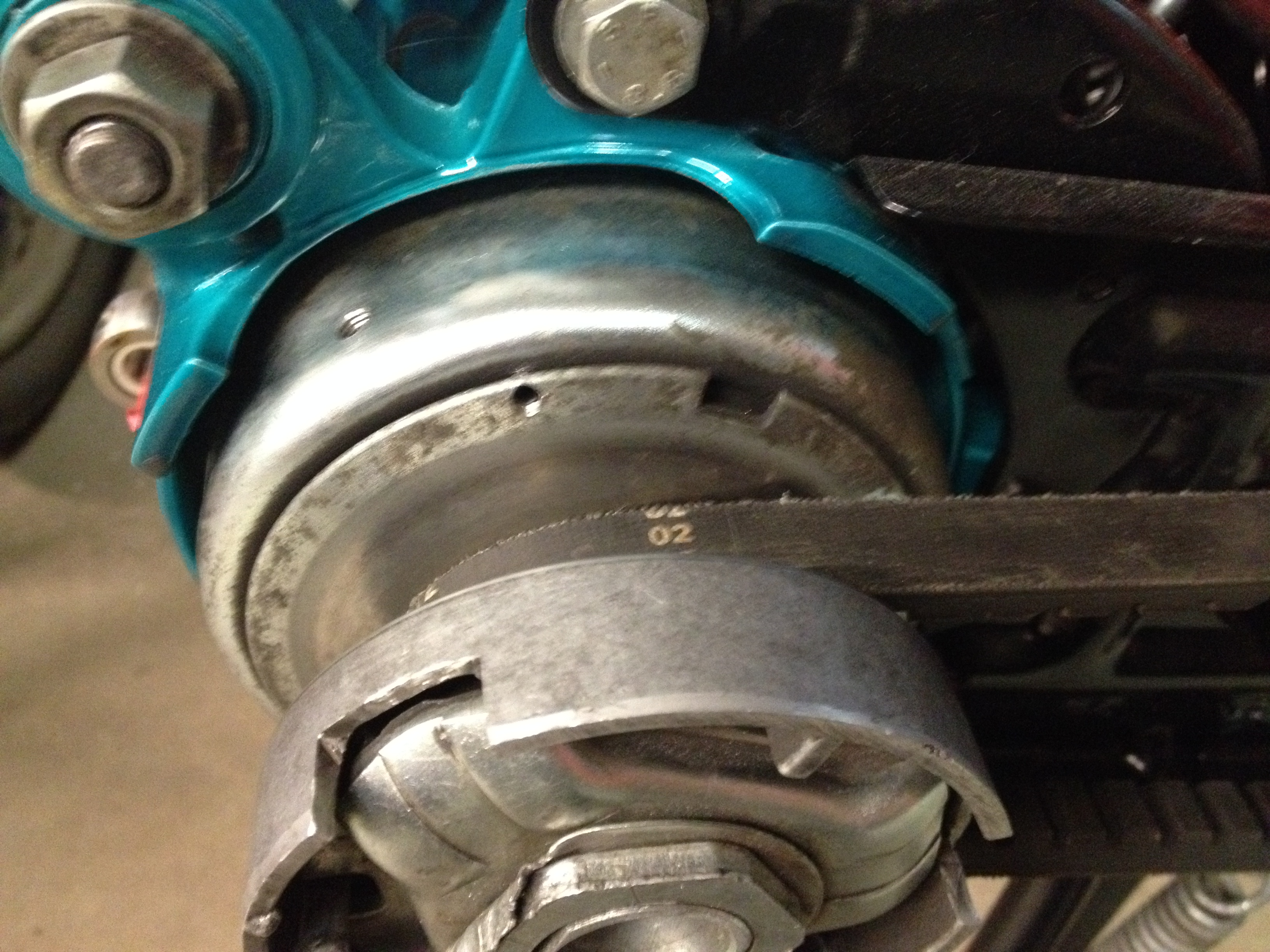Miami starter clutch mod on bike.JPG