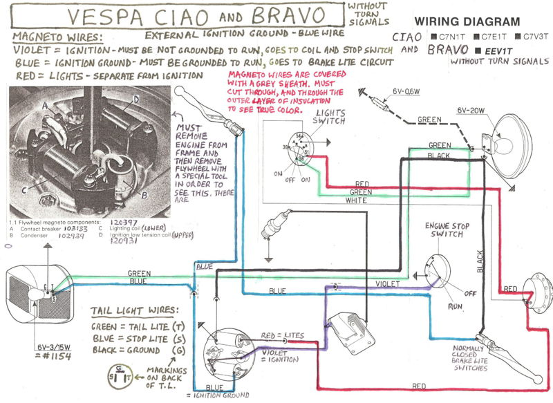 Electrical Troubleshooting Vespa Bravo  U2014 Moped Army