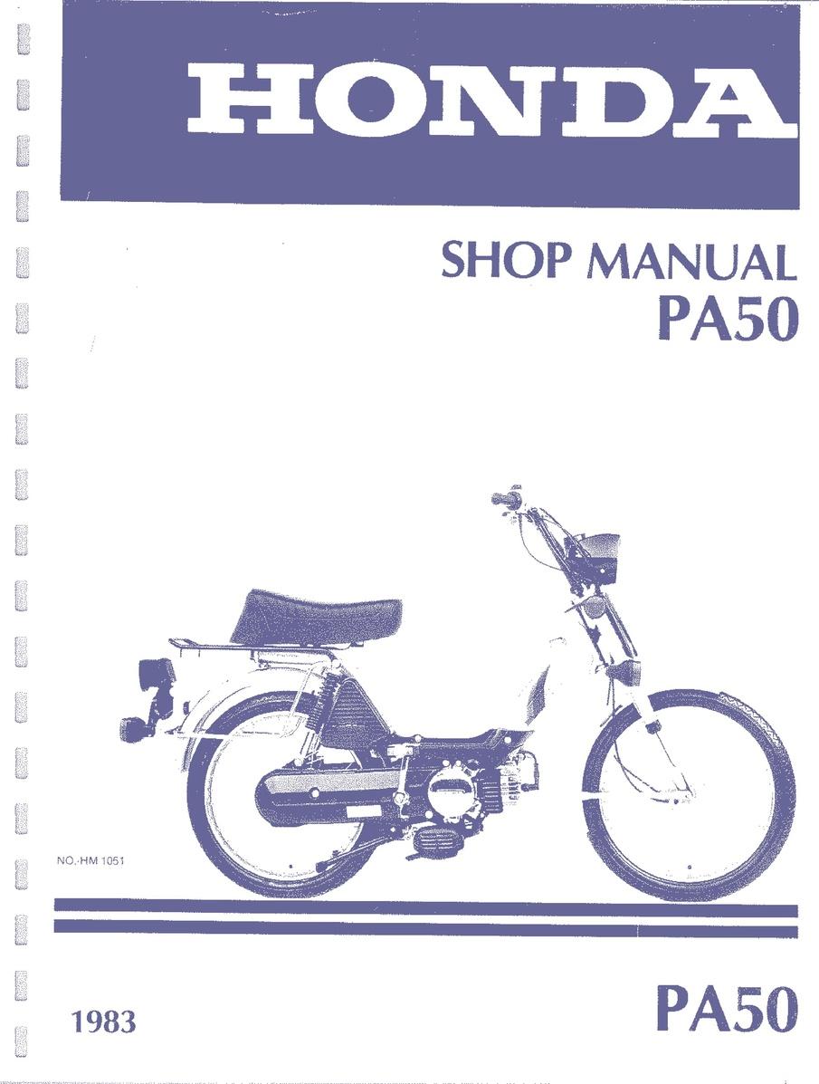 File:Honda PA50 Service.pdf   Moped Wiki — Moped Army