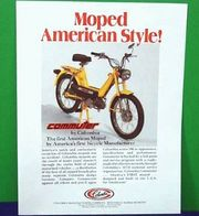 Vintage ad for Columbia mopeds.