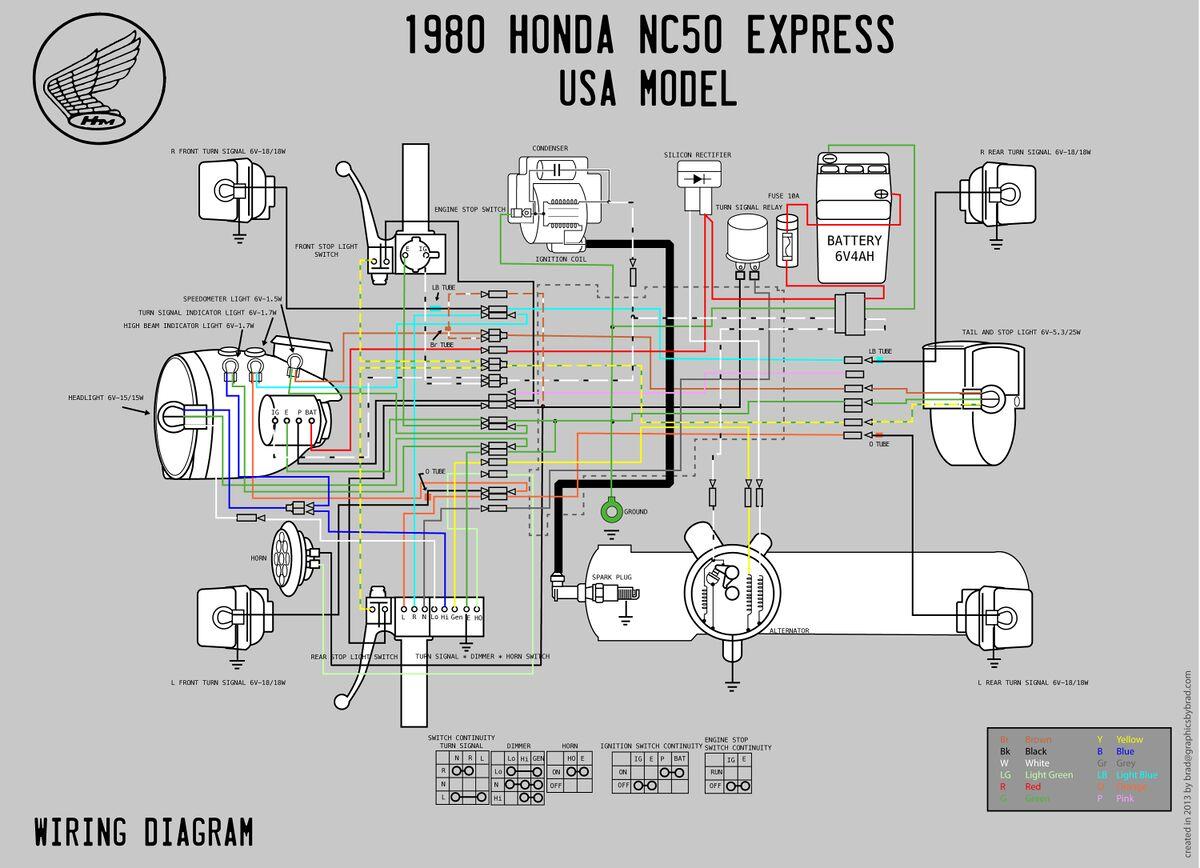 40 Honda NC40 Wiring Diagram   Moped Wiki — Moped Army