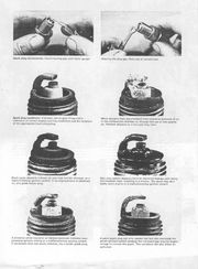 Page out of a Haynes Manual showing spark plug readings