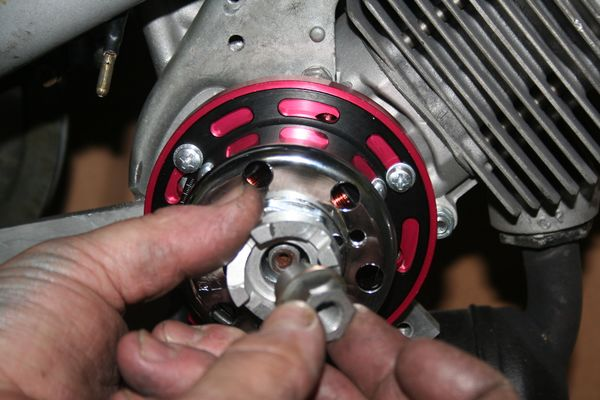 install pawl and crank nut